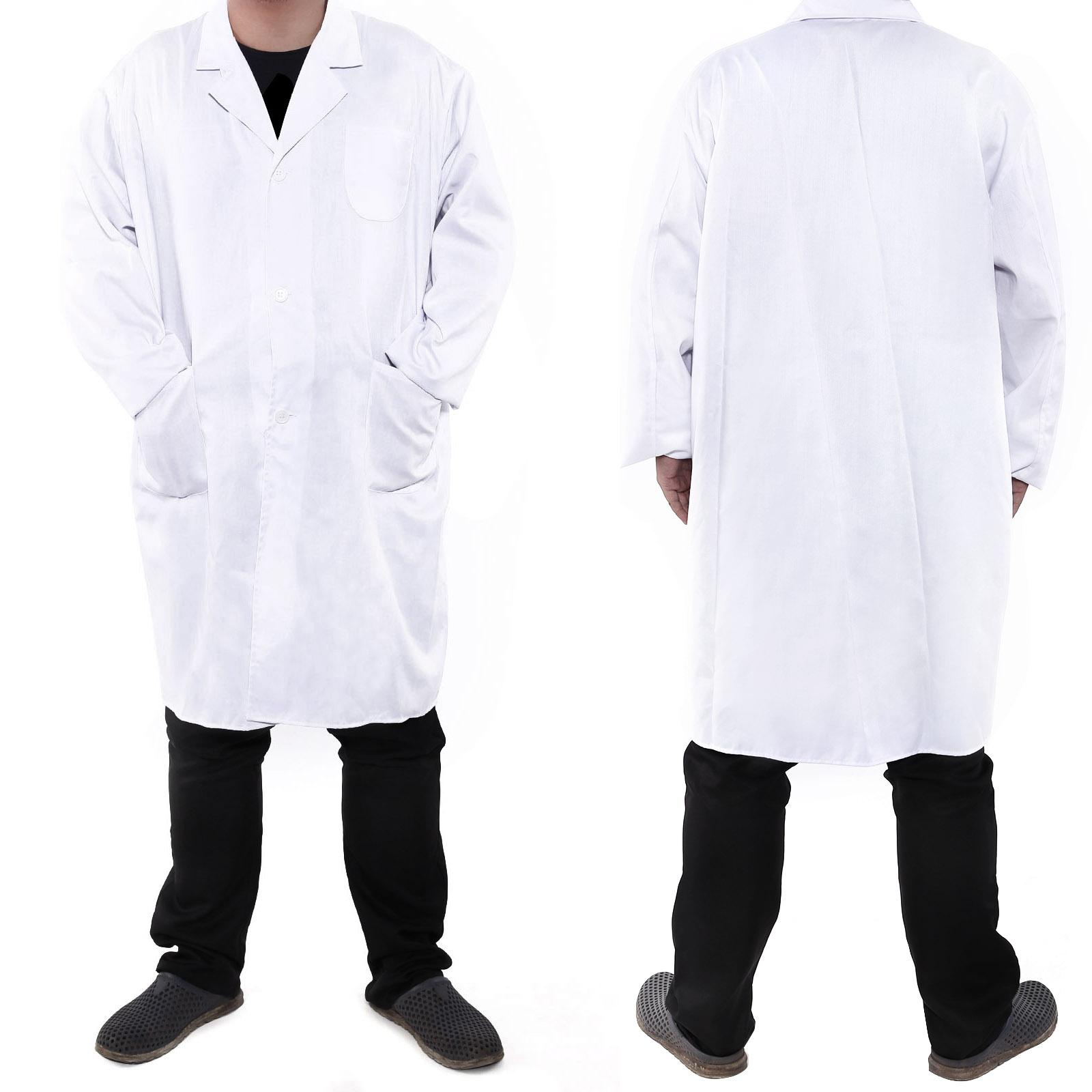 Mens Doctor Costume Lab Coat Medical Surgeon Adult Doctors
