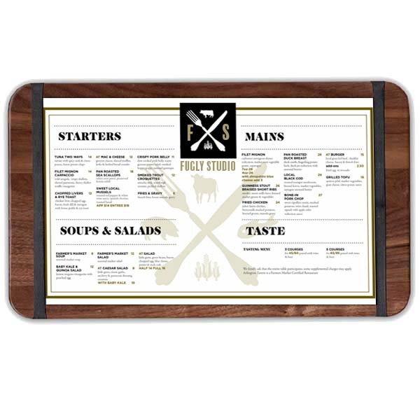 Banded Menu Boards for all Occassions