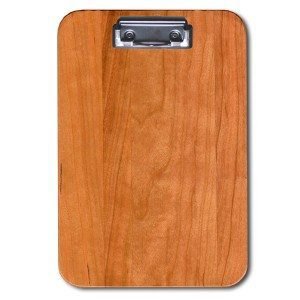 Cherry Engraved Wood Food and Drink Bill Check Presenter
