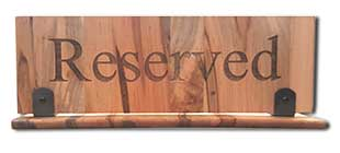 Restaurant Reserved Signs with Large Engraved Letters