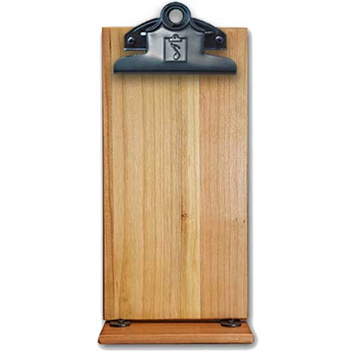 Cherry Wood Double Sided Table Tent Menu Board with Custom Logo