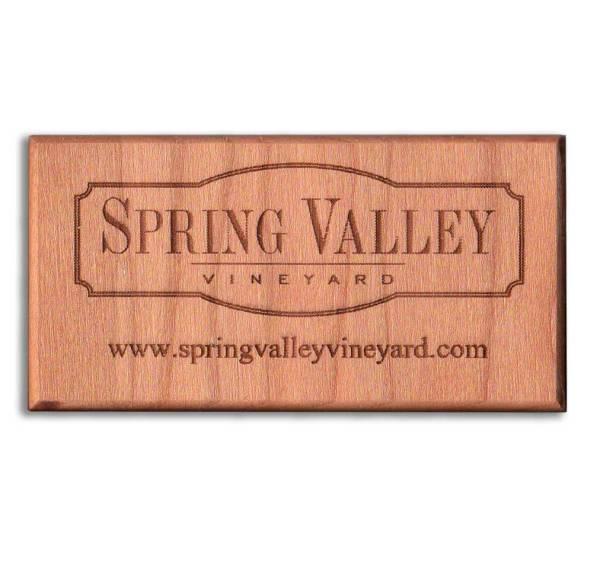 Magnetic Restaurant Reminders - Wood Business Card Refrigerator Magnets