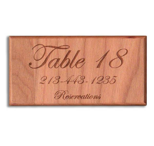 Cherry Wooden Business Card Refrigerator Magnets
