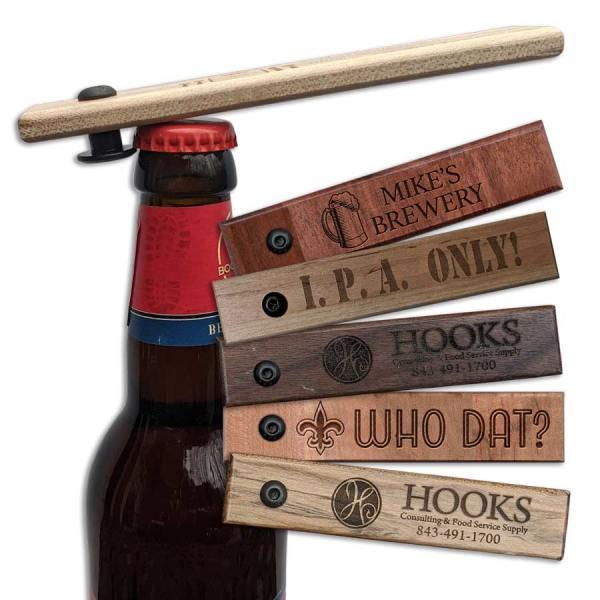 Pub Style Wooden Engraved Bottle Opener