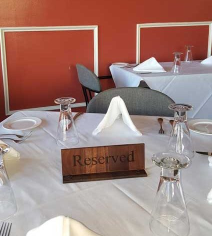 Wood Engraved Table Reserved Signs