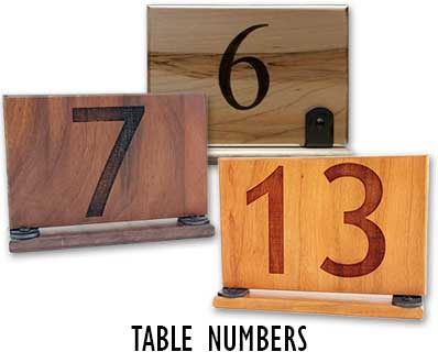Tabletop numbers for organized food service