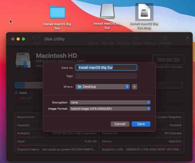 Convert mac OS 11 installer to DMG
