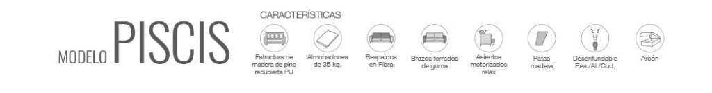 Características sofá Piscis