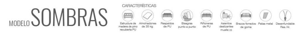 Características Sofá Sombras