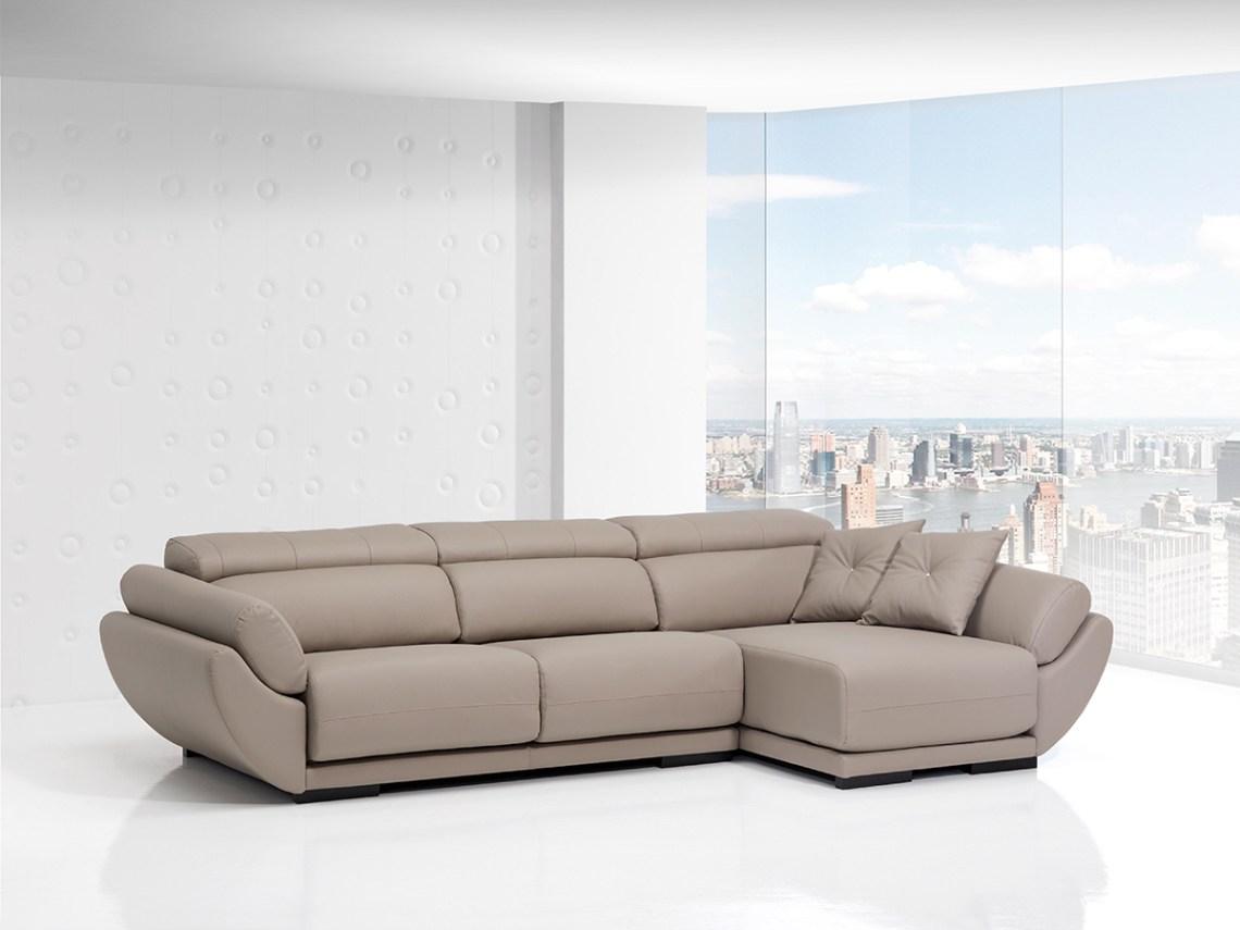 Sofá tapizado piel modelo Góndola 1