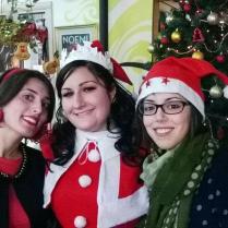 Babba Natale con le nostre presentatrici Letizia ed Elisa