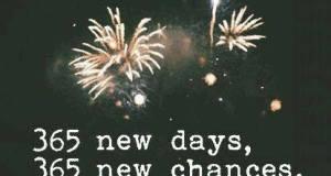 365 nuovi giorni, 365 nuove chances
