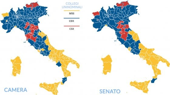cartina in blu