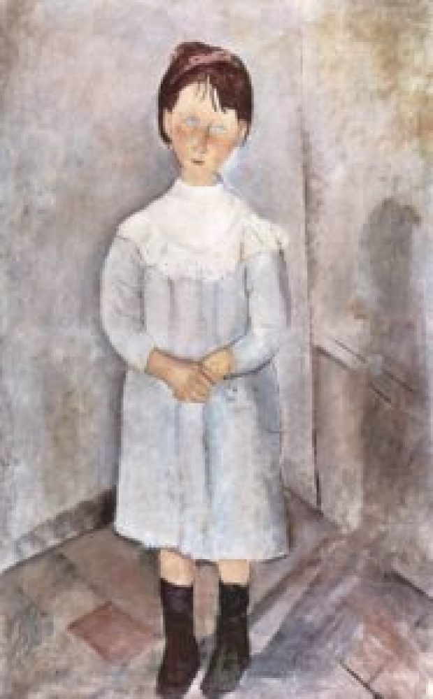 la bambina in azzurro