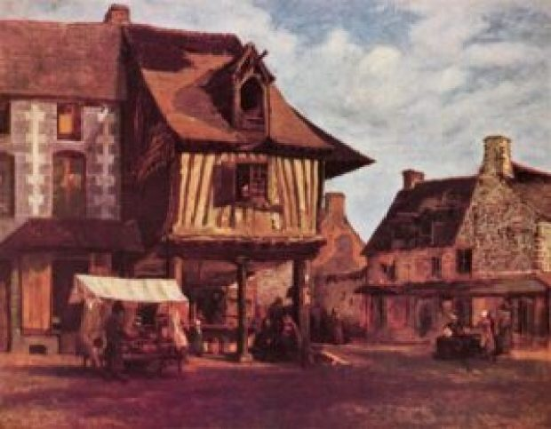 Market in the Normandy