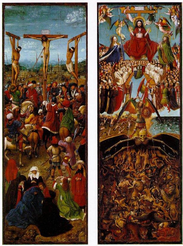crocefissione e giudizio universale