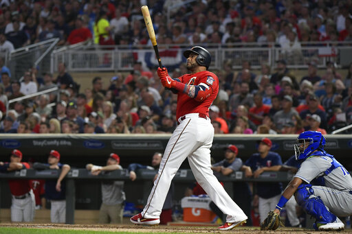Cruz hits 3 HRs for 2nd time in 10 days, Twins beat KC 11-3