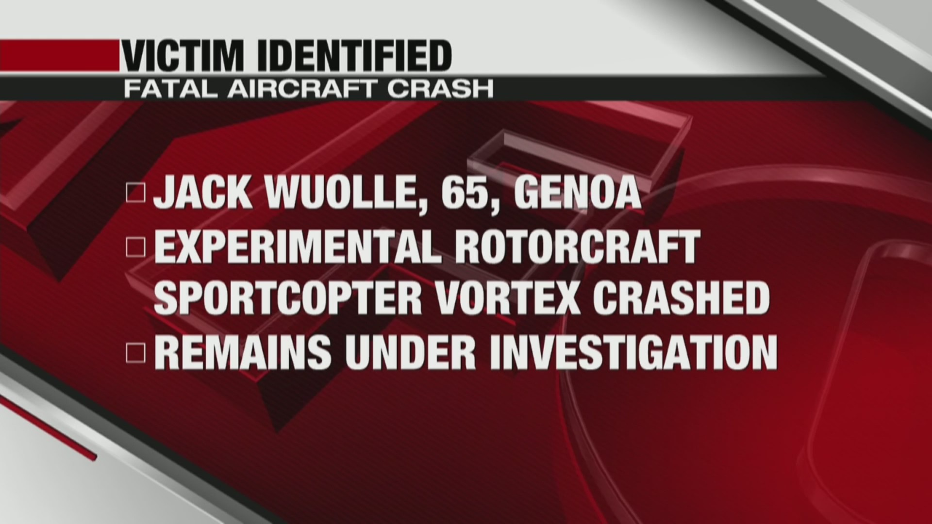 Vernon County Aircraft Accident