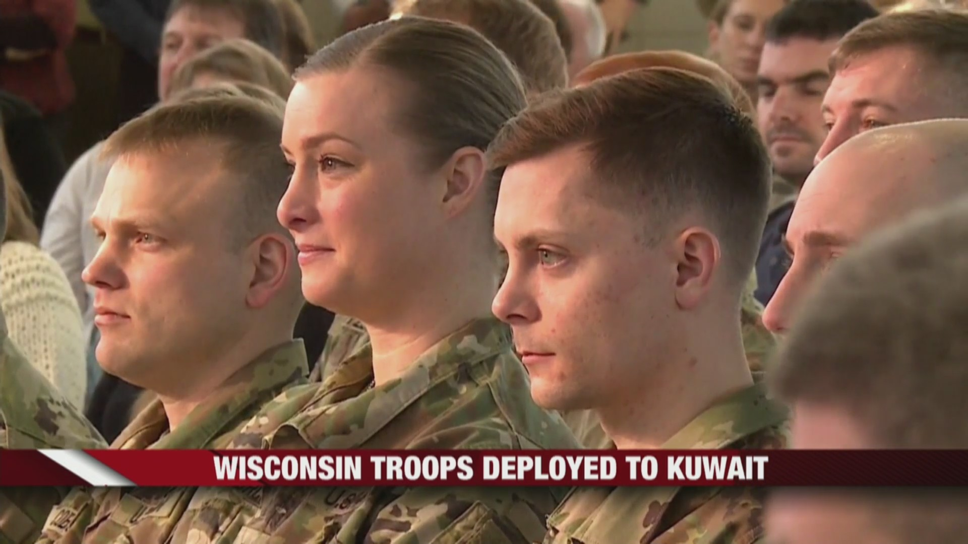 Wisconsin Army National Guard soldiers deployed to Kuwait