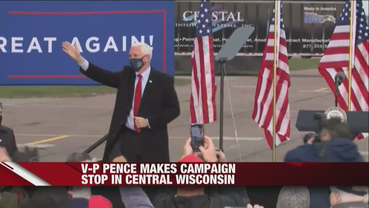 Vice President Mike Pence makes campaign stop in central Wisconsin