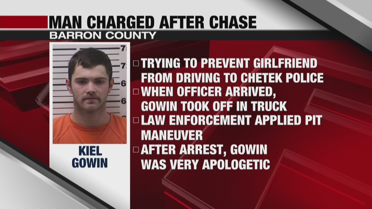 Barron County man charged for alleged stalking and fleeing from authorities