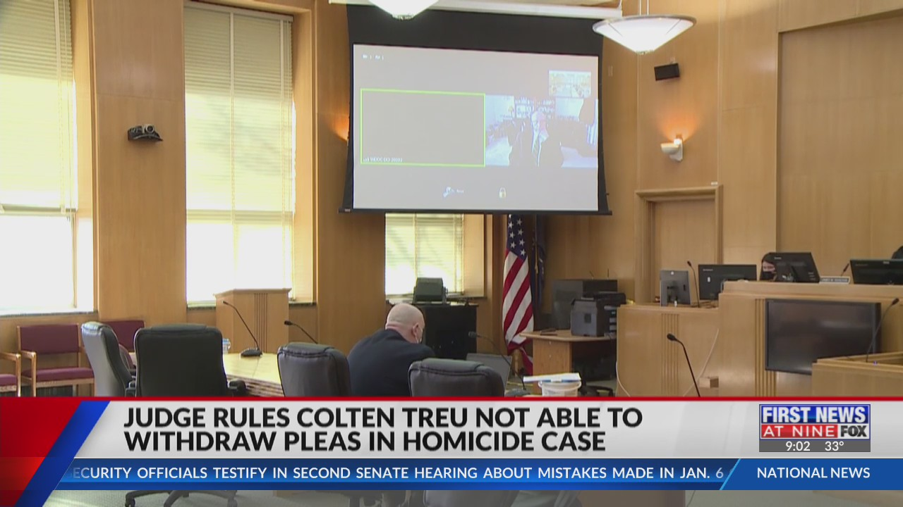 Judge rules Colten Treu cannot withdraw his pleas in homicide case