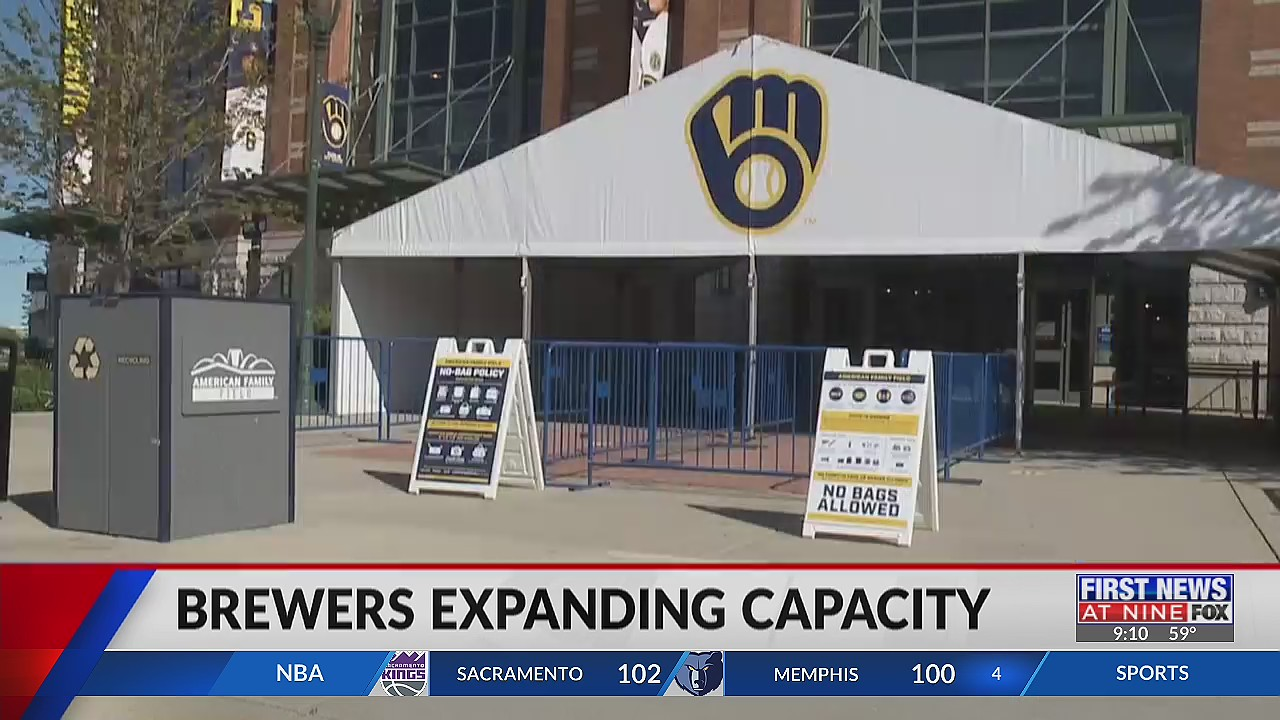 Milwaukee Brewers will return to full stadium capacity starting June 25