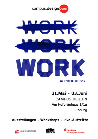 Plakat für die diesjährige Werkschau am campus.design open 2018 - Coburg