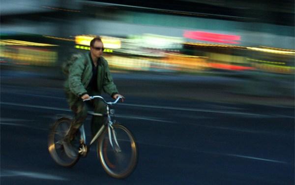 Auf dem Fahrrad bitte nicht ohne Licht!