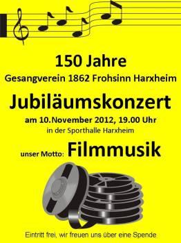Jubiläumskonzert Gesangverein 1862 Frohsinn Harxheim