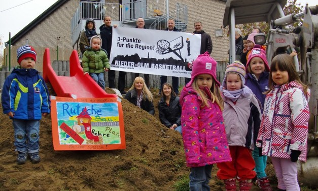 Nieder-Olmer Basketballer punkten für Rutsche des Kinderschutzbundes