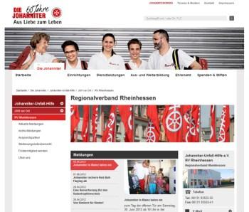Webseite der Johanniter.