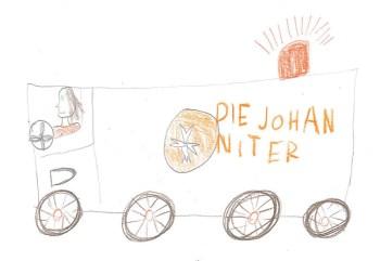 Kinder malen für Senioren - eine Aktion der Johanniter-Unfall-Hilfe e.V., Regionalverband Rheinhessen. Bild: Finja, 10 Jahre, Mainz