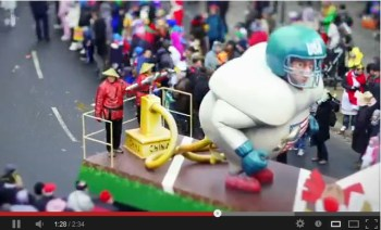 Rosenmontagszug in Mainz als Tilt-Shift-Video