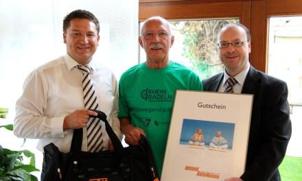 Rheinradeln: Oppenheimer gewinnt Wellness-Wochenende