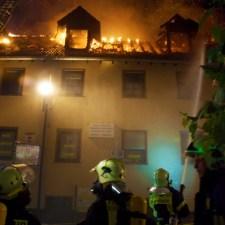 Vollbrand in der Oppenheimer Altstadt gegenüber dem Gautor 6