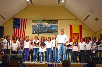Harmonie in Takt singt in Hahnheim.