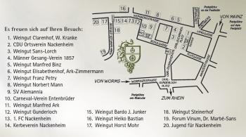 Der Nackenheim Weinfestplan für 2013.