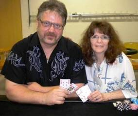Maureen Spitzl, Ranglistenerste der Royal-Flush-Society zusammen mit Rüdiger Ziegler, © Bildquelle:  rfs-poker