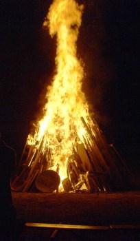 Sonnenwendfeuer des MKV am 31. August.