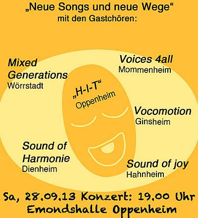 Harmonie in Takt lädt zum Chorkonzert in die Emdondshalle Oppenheim