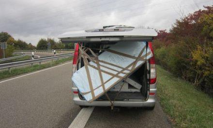 Polizei stoppt gemeingefährlichen Transport auf der A60 bei Ingelheim
