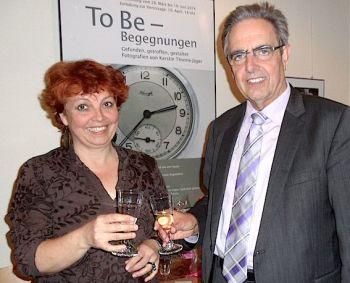 Ausstellungseröffnung mit Kerstin Thieme-Jäger und Klaus Penzer. Foto: Lampert-Schmitt