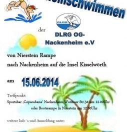 DLRG Nackenheim lädt zum  Rheinschwimmen ein