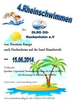 DLRG Nackenheim lädt zum Rheinschwimmen ein.