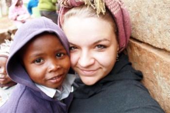 Viktoria in einem Kinderheim in Kenia.