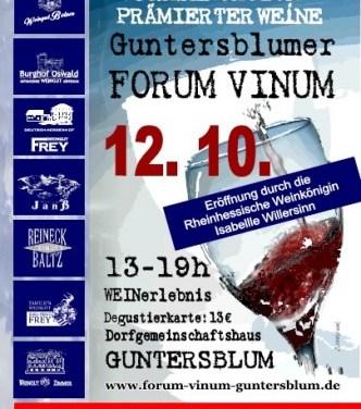 Guntersblumer Forum Vinum präsentiert zum vierten Mal prämierte Weine