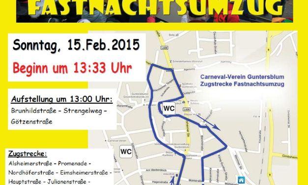 Carneval-Verein Guntersblum: Großer Fastnachtsumzug in Guntersblum