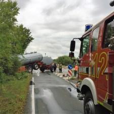 Die Feuerwehr Bodenheim koordiniert die Bergung. (Foto: Andreas Lerg)