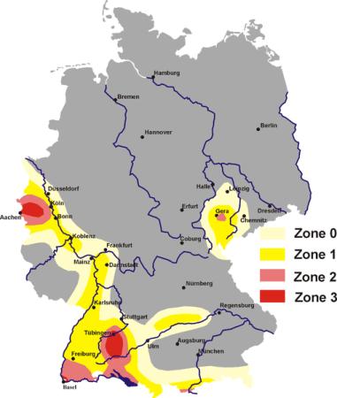 Der Rheingraben ist eine Erdbebenzone. (Bildquelle: wikipedia)